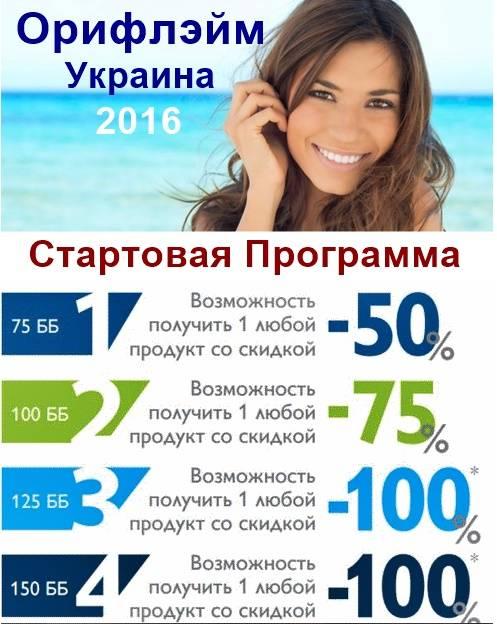 Новая Стартовая Программа Орифлейм Украина 2016